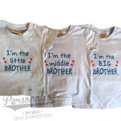 I'm The Little Middle Big Brother Slogan T-shirt